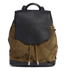Rag & Bone Pilot Suede & Leather Backpack Olive